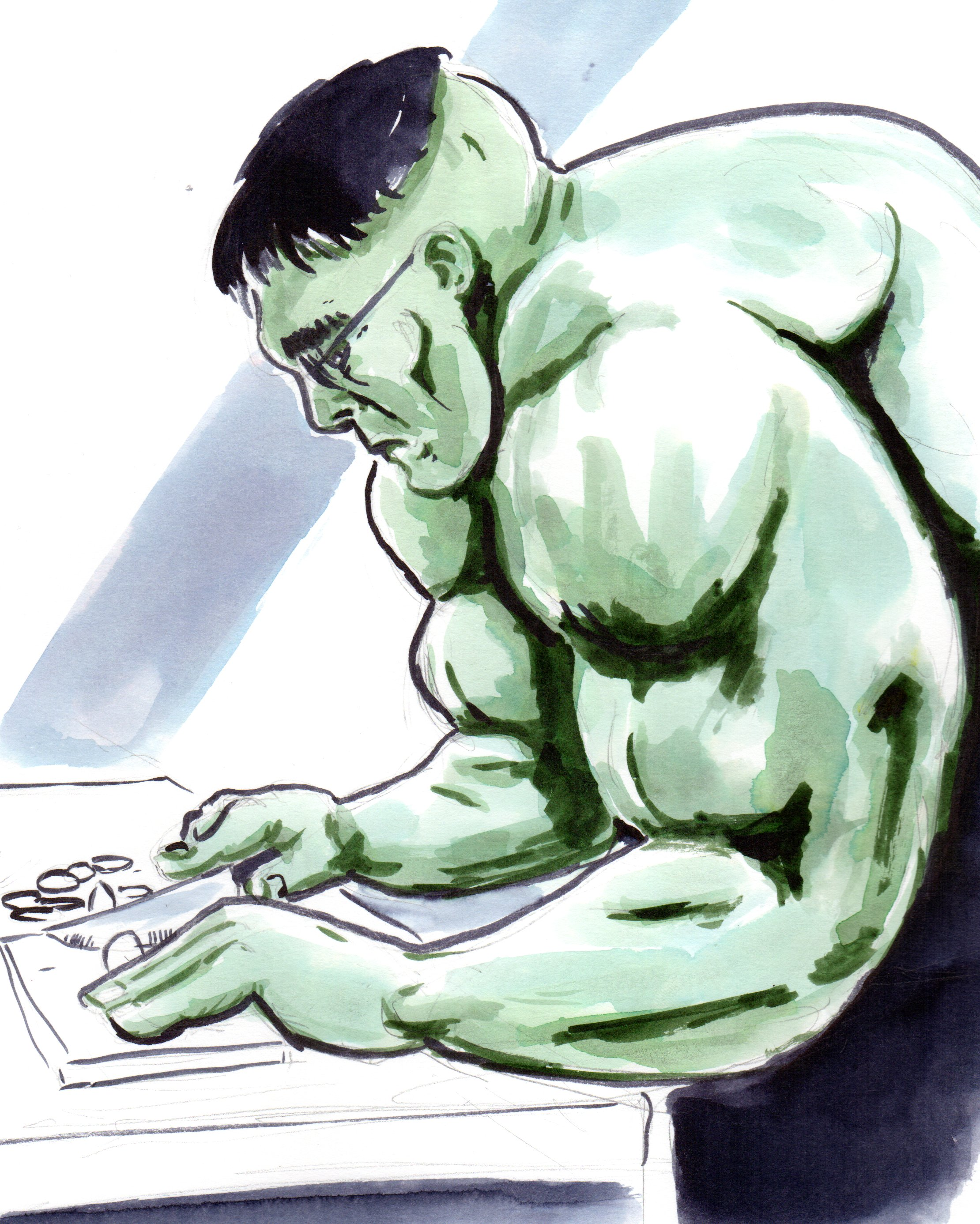 incredible immortal nerd hulk marvel bruce banner cooking