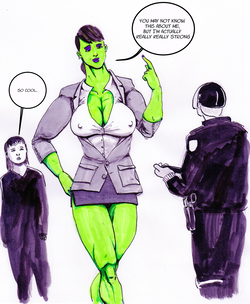 She Hulk Really Really Strong